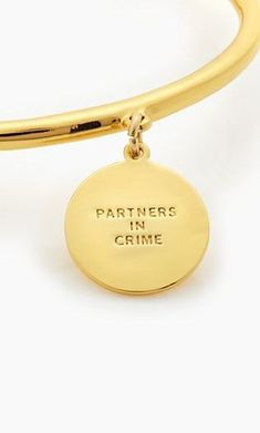'partners in crime' charm bangle