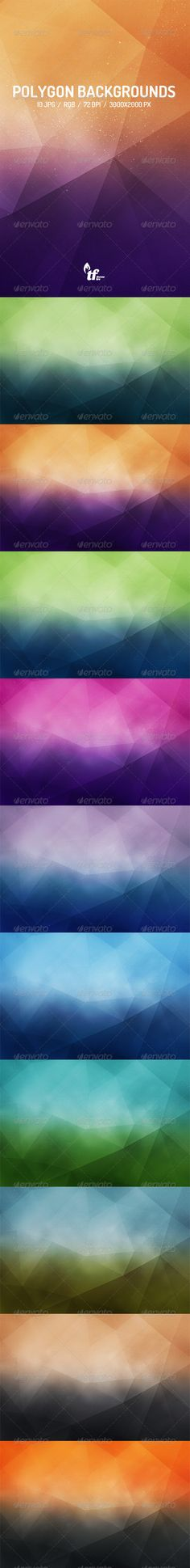 10 Polygon Backgrounds  #stylish #wallpapers #3d • Click here to download ! http://graphicriver.net/item/10-polygon-backgrounds/7690224?ref=pxcr