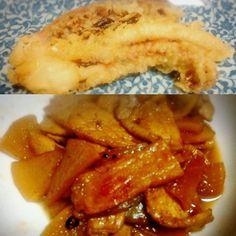 #ゲソ天(総菜) #大根と豚肉の炊いたん #あて #今日のあて