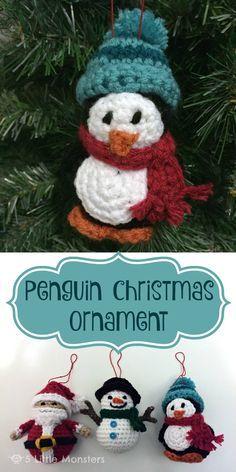5 Little Monsters: Penguin Christmas Ornament ༺✿ƬⱤღ✿༻