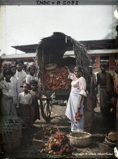 India - In 1909 the millionaire French banker and philanthropist Albert Kahn embarked on an ambitious project to create a colour photographic record of, and for, the peoples of the world. As an idealist and an internationalist, Kahn believed that he could use the new autochrome process, the world's first user-friendly, true-colour photographic system, to promote cross-cultural peace and understanding.
