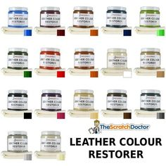 Details about Leather Dye Colour Restorer. For Faded and Worn Leather Sofa Chair…Scratch Doctor's Leather Colour Restorer is an easy to use solution for restoring colour to faded and worn leather. The restorer is simply rubbed into the leather with Paint Leather Couch, Leather Couch Repair, Leather Furniture Repair, Black Leather Sofas, Painting Leather, Leather Couches, Leather Ottoman, Diy Chair, Sofa Chair
