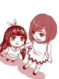 Young Kagura and Erza