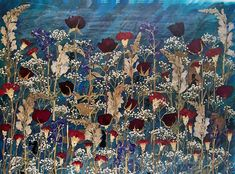 Red Rose's for a Blue Lady 16 X 20 Pressed flower art Limited edition print