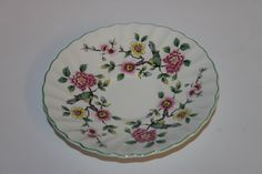Chinese Rose floral saucer replacement Old by redrococogarden