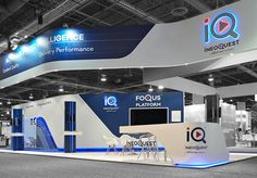 """With a stunning new lit logo application that enhances the existing booth, we built an innovative stand for Ineoquest. 3D Designer, Ross Gilmour said: """"Bold lines and clean use of colour helps Ineoquest stand out from the crowd!"""""""