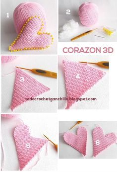 Corazón Crochet 3D / Paso a paso   Todo crochet Más