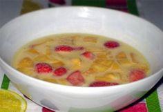 Görög gyümölcsleves 2. | NOSALTY Fruit Recipes, Cheeseburger Chowder, Soup, Soups