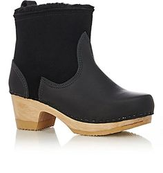 Hmmm like an Ugg on steriods, could be cute...NO. 6 Shearling-Lined Clog Boots - Ankle Boots - Barneys.com