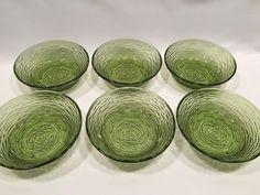 Anchor Hocking Soreno Avocado Green Cereal Bowls Set of 6 Glass #AnchorHocking