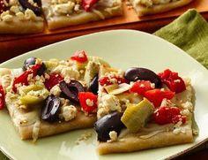 Gluten Free Greek Appetizer Pizza
