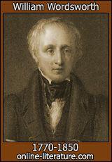 William Wordsworth,poet, born today 7th April 1770