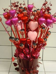 Chocolate bouquet for Valentine's day