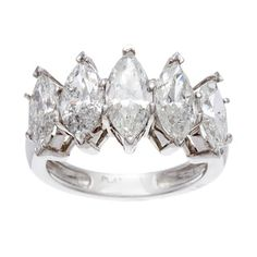 @Overstock.com - Platinum 3 4/5ct TDW Diamond 5-stone Ring (H-I, I1-I2) - Five-stone marquise diamond estate ringThis ring is available in size 6 only Click here for ring sizing guide  http://www.overstock.com/Jewelry-Watches/Platinum-3-4-5ct-TDW-Diamond-5-stone-Ring-H-I-I1-I2/8307454/product.html?CID=214117 $7,699.99