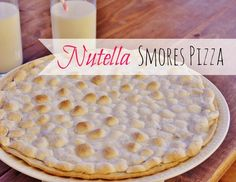 Nutella Smores Pizza, nutella recipes, nutella ideas, recipe ideas, pizza recipe ideas