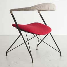 Carlo Hauner cotton and iron Lounge Chair