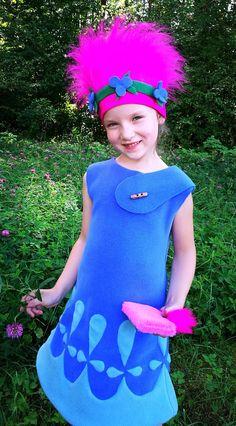 Poppy costume / Trolls costume /Trolls Poppy costume/Kids trolls costume/poppy dress up/trolls dress up/handmade costume / Halloween costume