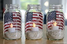Check out these Fourth of July Crafts. You can make any celebration patriotic with these of July Crafts for your home. Fourth Of July Decor, 4th Of July Celebration, 4th Of July Decorations, 4th Of July Party, Memorial Day Decorations, 4th Of July Ideas, 4th July Crafts, Cubicle Decorations, Church Decorations