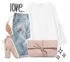 """""""I know it when you give me those sunset eyes."""" by northernbloom ❤ liked on Polyvore featuring MANGO, Kate Spade, Kendall + Kylie, Wrap and LULUS"""