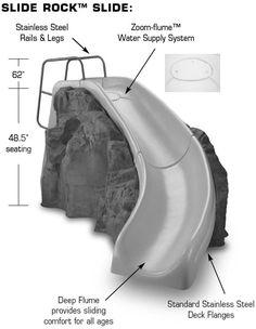 Image detail for -Slide Rock Swimming Pool Slide by Inter-Fab