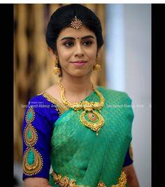 Priya 💕 For bridal bookings contact 9840312031 Cutwork Blouse Designs, Pattu Saree Blouse Designs, Simple Blouse Designs, Stylish Blouse Design, Bridal Blouse Designs, Blouse Patterns, Diana, Poses, Brocade Saree