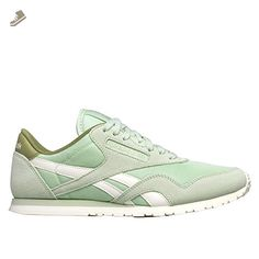 62d9a382e5130 Reebok - CL Nylon Slim Core Sagegreenchalk - V68402 - Color  Green - Size