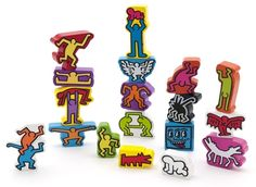 Piccolini NYC - Keith Haring Stacking Figures , $35.00 (http://www.lovepiccolini.com/keith-haring-stacking-figures/)