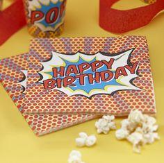 Pop Art Super Hero Servietten Birthday bei www.party-princess.de