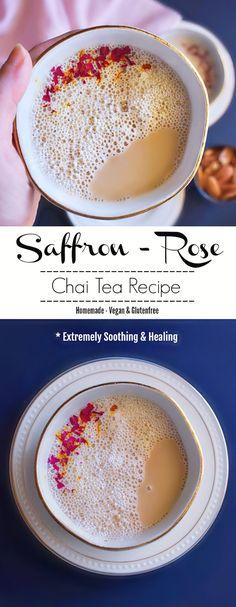 Saffron Rose Chai Tea Recipe: #saffron #rose #tea #valentines #chai #healing