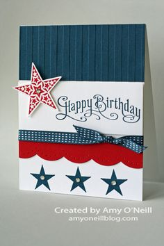 Happy Independence Day Birthday Amys Paper Crafts Masculine Cards