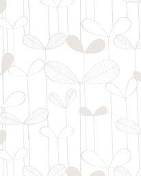 Tapet Saplings White/White från MissPrint
