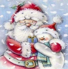 Resultado de imagem para abraço ao Pai Natal cartoon
