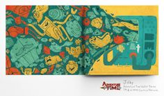 Adventure Time vinyl wallet from Poketo. Illustrations by Jolby and Friends.
