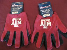 TWO (2) PAIRS OF TEXAS A&M, ALL PURPOSE SPORT UTILITY GLOVES #TexasAMAggies