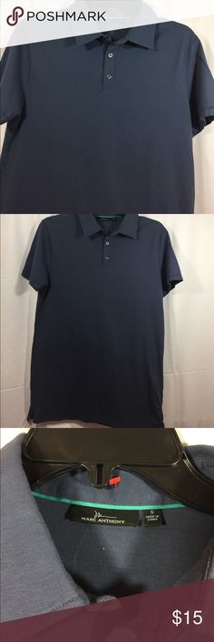 Marc Anthony Blue Polo Small Gently worn.  2️⃣9️⃣ Marc Anthony Shirts Polos