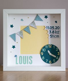 Baby Frame / Birth Frame / Baby Boy Gift / New Baby Gift / New Baby Frame Framed Letters, Baby Frame, Baby Boy Gifts, Baby Room Decor, New Baby Products, Birth, Frames, Decoration, Craft