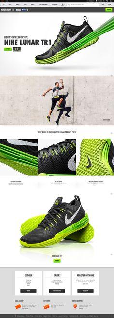 Nike Lunar TR1 #interface #ui #web