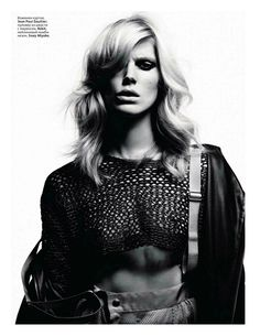 Iselin Steiro by Hedi Slimane for Vogue Russia March 2012