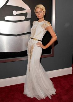 PARIS HILTON really looked gorgeous. She shockingly chose a tasteful and sophisticated gown. | The 54th Annual Grammy Awards | February 12, 2012