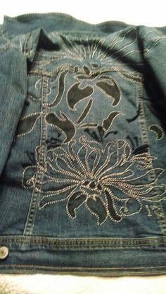 My jean jacket embellishment a la alabama chanun