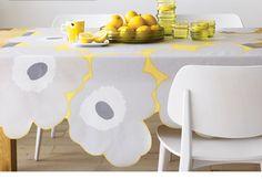 DIY Marimekko Table Cloth.