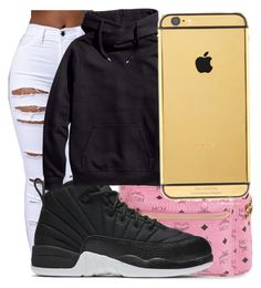 """Untitled #401"" by sashajl03 ❤ liked on Polyvore featuring MCM, NIKE, H&M and Goldgenie"
