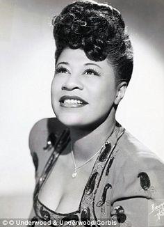 A portrait of world-renowned jazz singer Ellla Fitzgerald