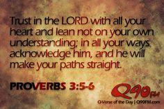 April 2, 2012 | Proverbs 3:5-6