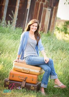 Senior Picture Idea: Luggage...you're traveling on the journey of life (sniffle, sniffle!)