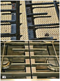 How to clean your cast iron stove grates/burners… without scrubbing! How to clean your cast iron stove grates/burners… without scrubbing! Clean Stove Grates, Stove Top Burners, Gas Stove Top, Oven Cleaning, House Cleaning Tips, Cleaning Hacks, Cleaning Solutions, Cleaning Checklist, Cleaning Recipes