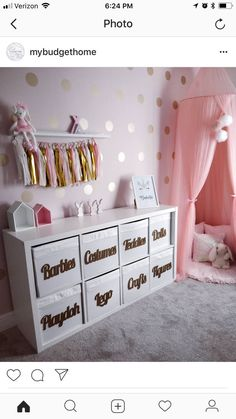 27 Pretty Kids Room Ideas That Are Beyond Chic You are in the right place about pretty girl swag Here we offer you the most beautiful pictures about the pretty girls with braces you are looking for. When you examine the 27 Pretty Kids Room[. Daughters Room, Toy Rooms, Kids Room Design, Nursery Design, Baby Design, Little Girl Rooms, Little Girl Closet, Baby Room Decor, Bedroom Decor For Kids