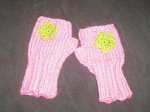 Rosa  Handstulpen für Babys