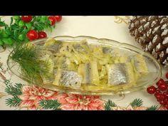 Śledzie w oleju z cebulą na święta - YouTube Camembert Cheese, Dairy, Food, Cooking Recipes, Meals, Yemek, Eten