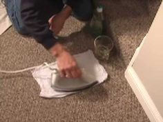 Best Way to Clean Carpet Stains! (Using only dish soap, hot water, an iron, and clean cloths)  No nasty chemicals!